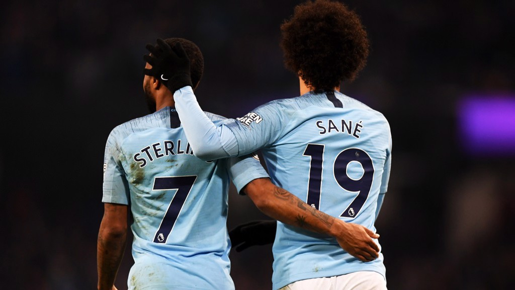 787ad5439 Stats focus on Leroy Sane and Raheem Sterling - Manchester City FC