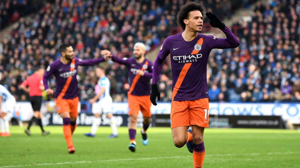 5c1b3b6ff6d TONDERFUL  Leroy Sane is all smiles after registering our 102nd goal of the  season at