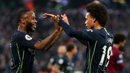 LETHAL: Leroy Sane believes teammate and close friend Raheem Sterling is approaching the best form of his career.