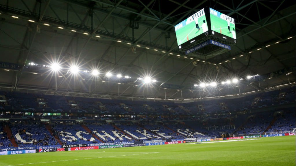 EURO DATE: The Veltins Arena will play host to City's Champions League last 16 first leg tie next month