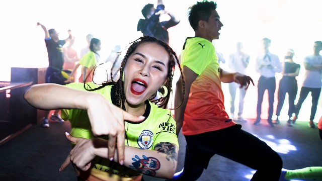 LAUNCH PARTY: Puma unveiled the new City kit in Shanghai ahead of the Club's summer tour