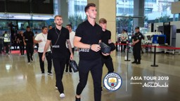 ARRIVAL: Aymeric Laporte reports for duty against Wolves.