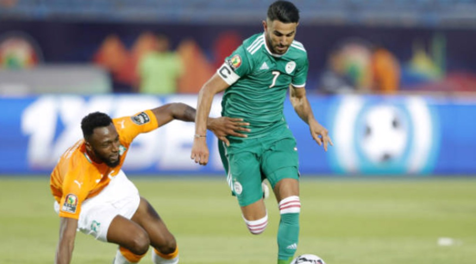 SKIPPER: Riyad Mahrez in action for Algeria.