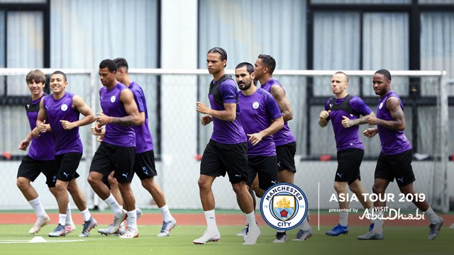 TRAINING: The boys were back on the training field this morning