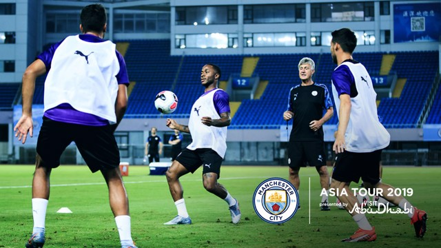 OPEN TRAINING: The players have had their first session on this year's Asia Tour.
