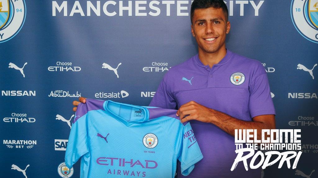 half off bce32 e56bc City signing Rodri chooses shirt number - Manchester City FC