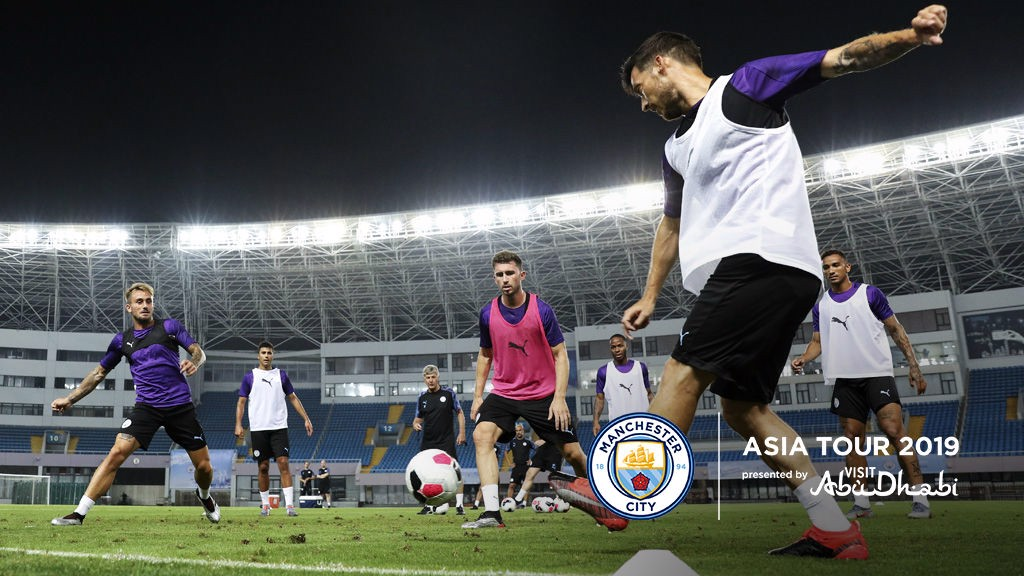 SHANGHAI: The squad were put through their paces this evening
