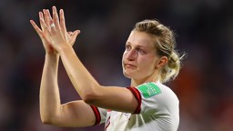 WHITE HEART: Ellen White spoke of her pride for the Lionesses