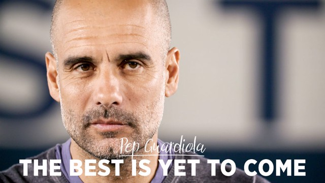 FOURMIDABLES: Pep Guardiola discusses the 2018-19 season, which saw City win all four English trophies.