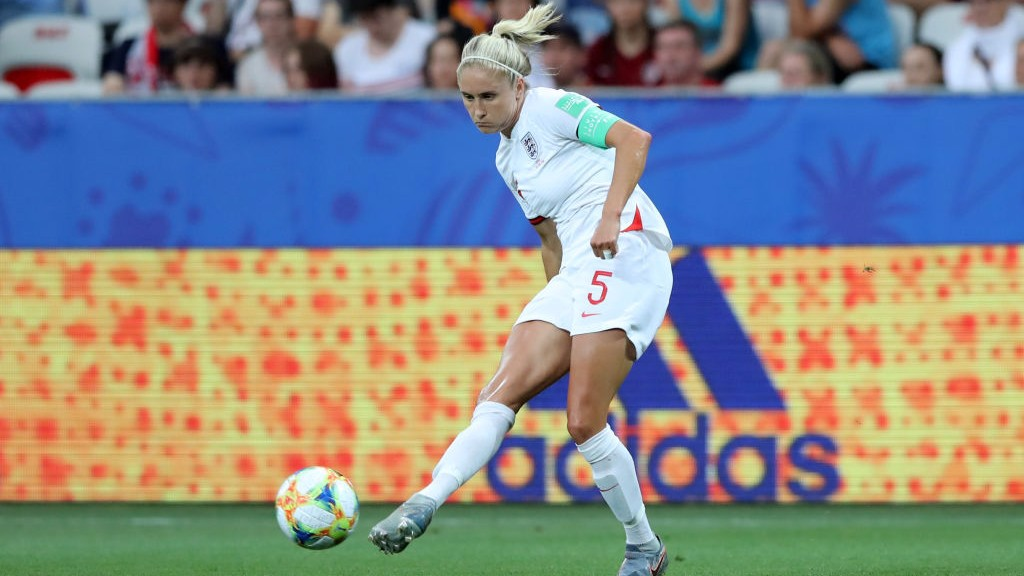 LEADER: Steph Houghton in action for England.
