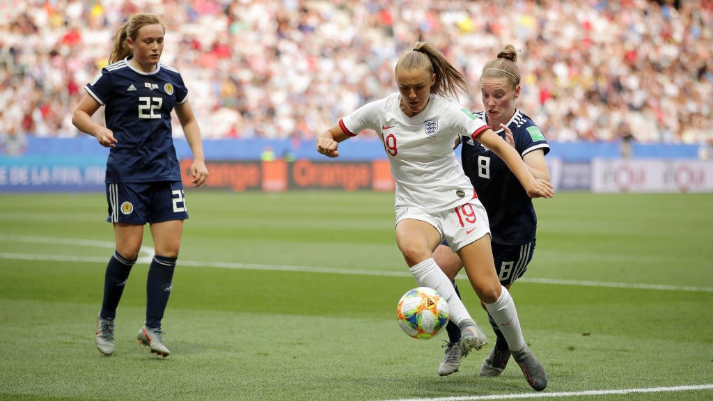 IN ACTION: Georgia Stanway made her World Cup debut against Scotland.