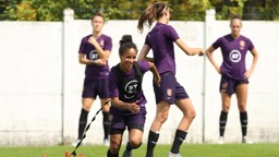 LIONESS: Demi Stokes in England training.