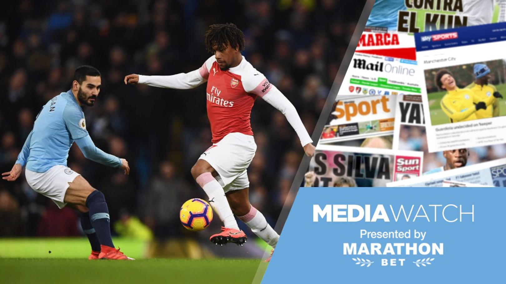 FAVOURITES: Arsenal's Alex Iwobi believes City are in pole position to defend their Premier League title.