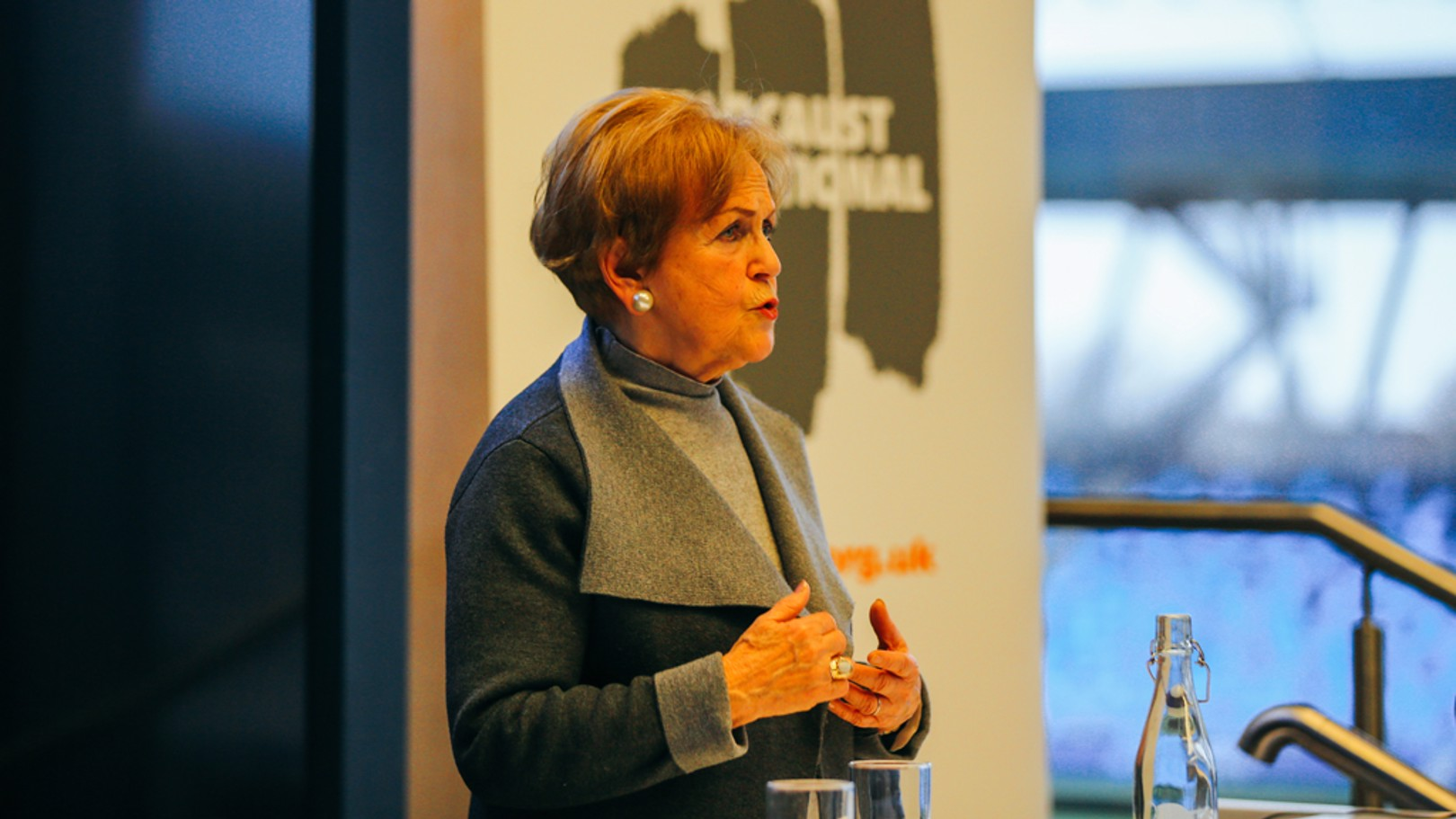 MOVING TESTIMONY: Mala Tribich during her talk to City's young players and staff