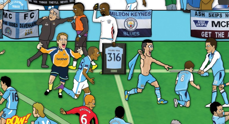 ANNIVERSARY: With 2019 also marking the Club's 125th anniversary, we want to celebrate our proud history in a unique and memorable fashion by creating our own special Manchester City mishmash poster.