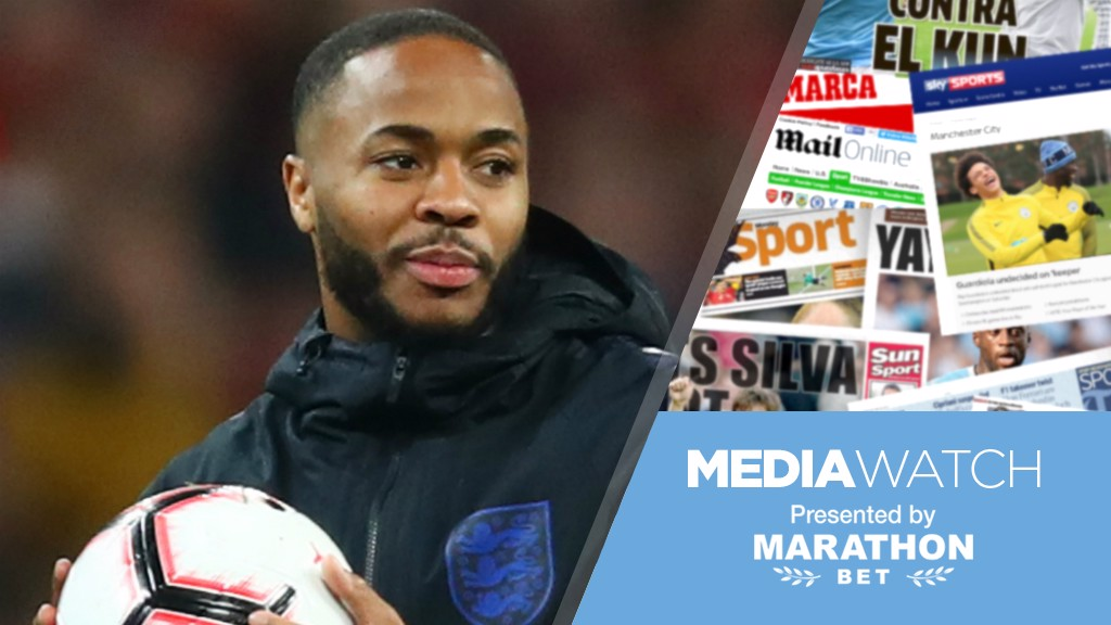 STERLING DISPLAY: Raheem Sterling bagged a hat-trick in England's 5-0 win over the Czech Republic