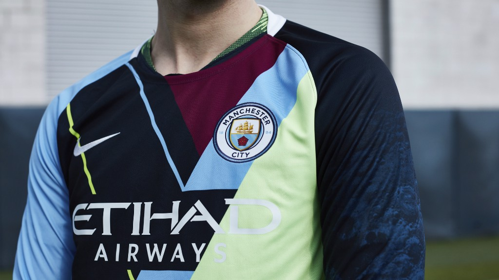 5c2b26c42 CELEBRATION: Nike and Manchester City have come together to create a  special jersey commemorating the