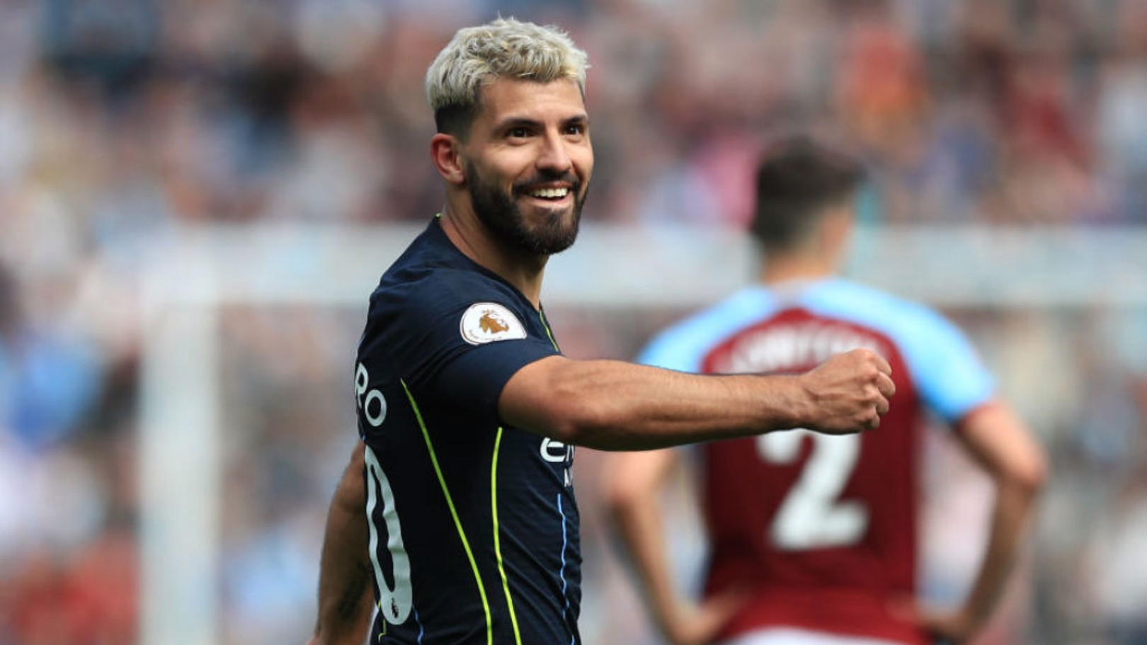 CLASS ACT: Francis Lee says Sergio Aguero's game has been elevated again under the leadership of Pep Guardiola