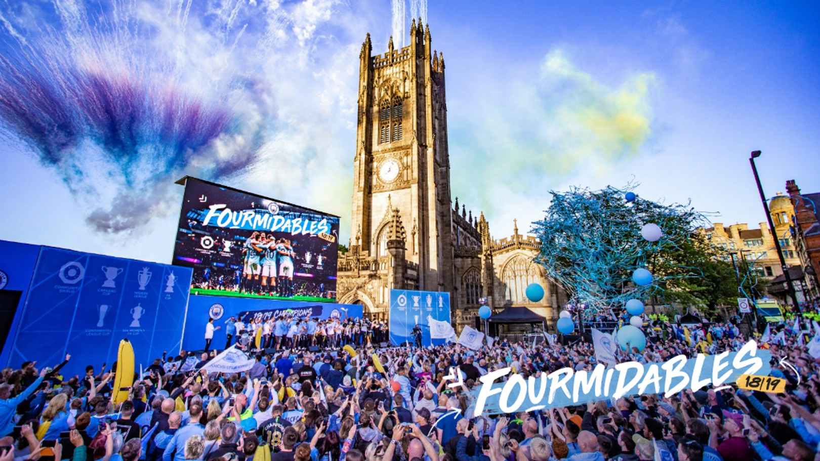 Manchester is Blue: What a sight!