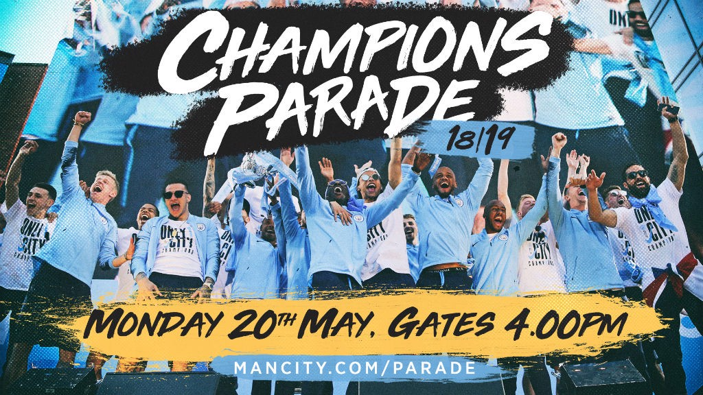 CHAMPIONS: City will parade the Premier League trophy in Manchester on Monday