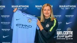 BLUE AND WHITE: Ellen White joins the ranks