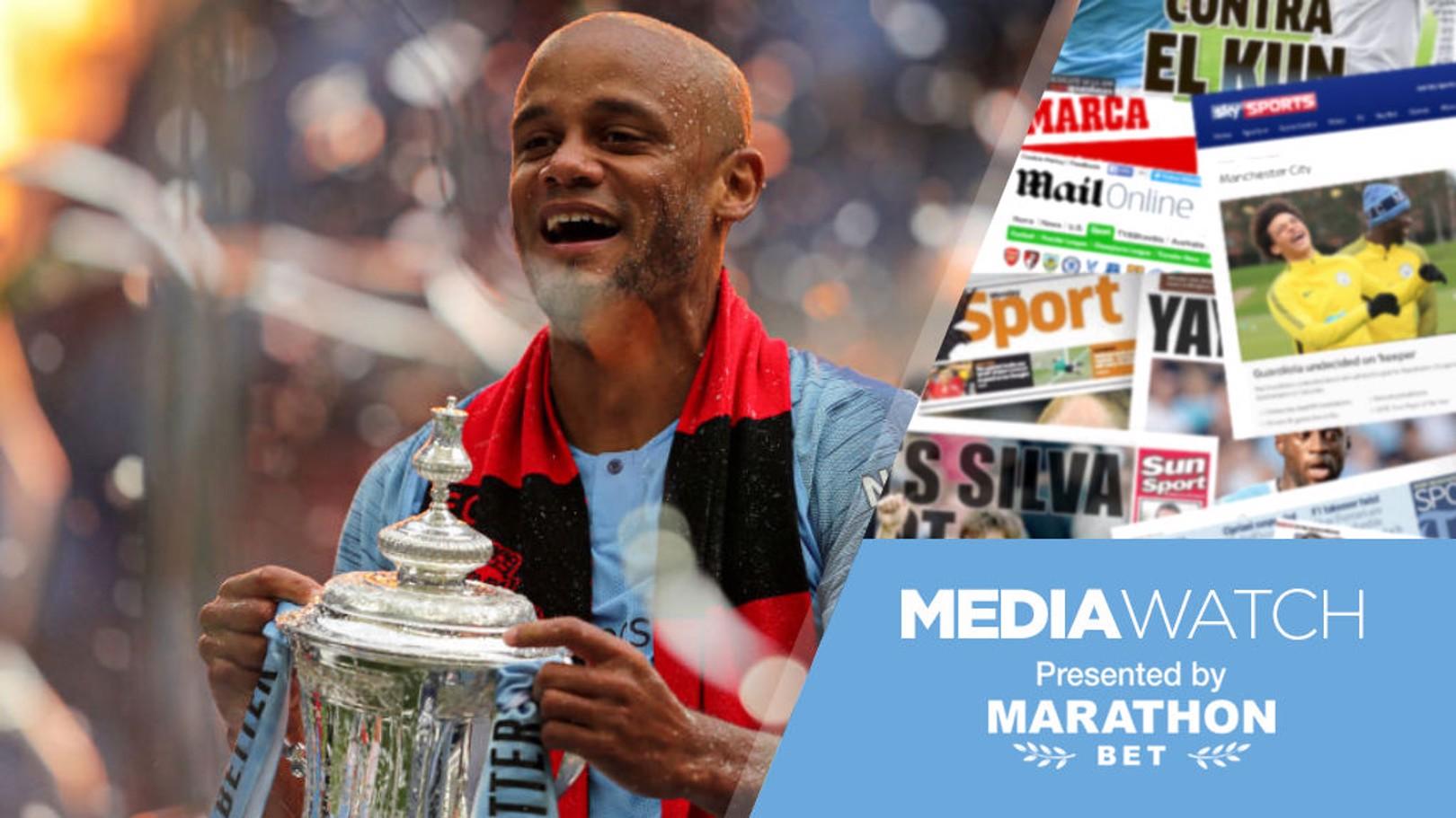 Media: 'Departing Kompany a true City legend'