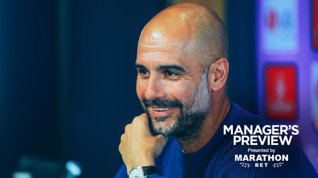 PREVIEW: Pep addresses the media before the FA Cup final.