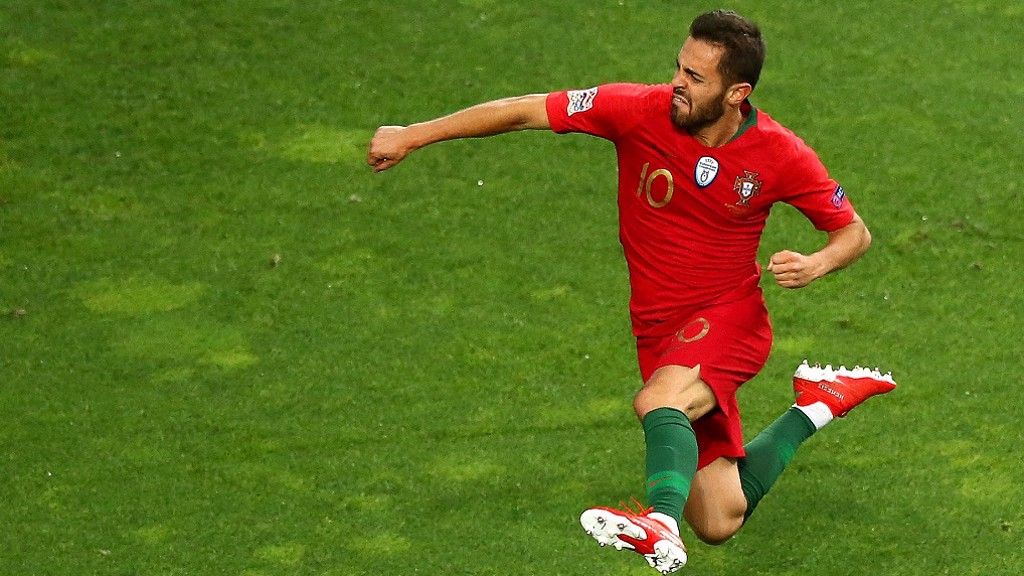 Bernardo Silva logró la clasificación para la Eurocopa 2020 con Portugal.