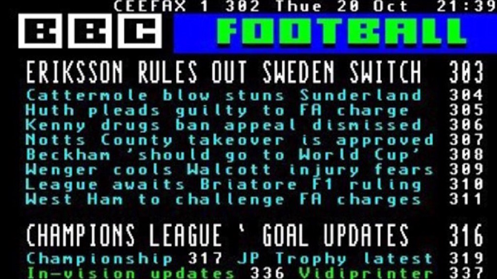 CEEFAX: BBC's live updates pages