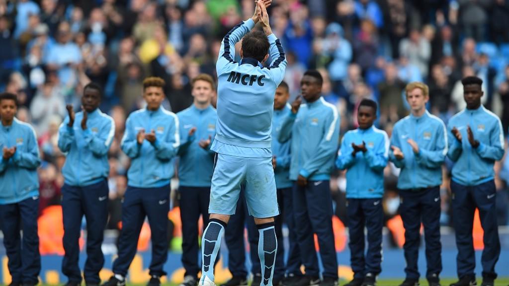 THANK YOU: Frank bids farewell