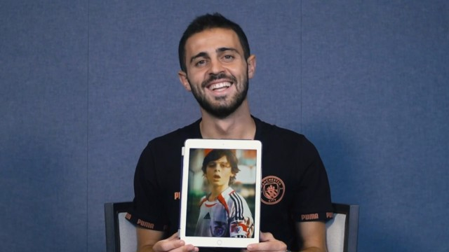 MINI ME: Bernardo Silva takes a trip down memory lane.