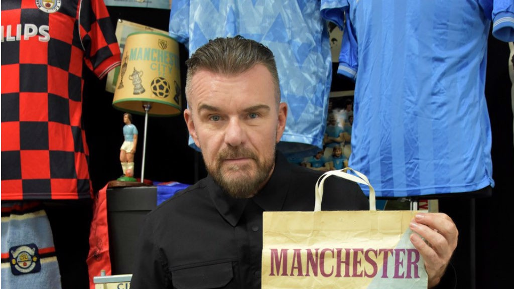 MEMORIES ARE MADE OF THIS: Billy Duffy with some of his City memorabilia