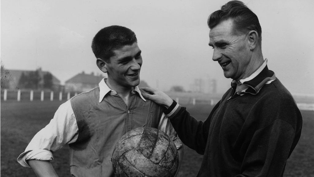 LEADING MAN: Peter Doherty, pictured right, during his time as manager of Northern Ireland