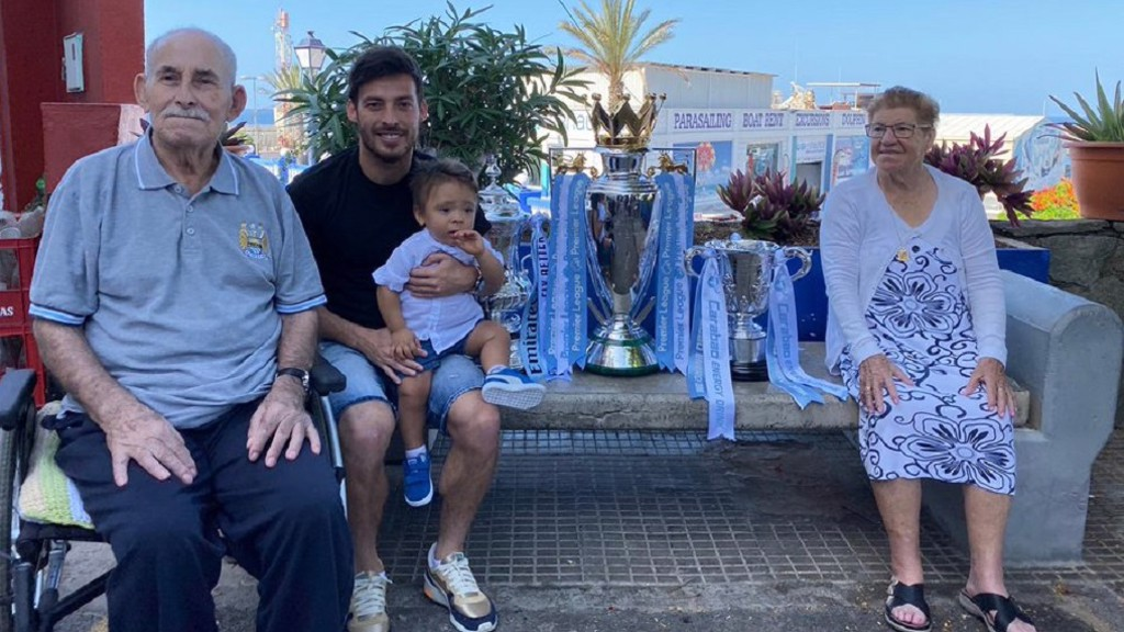 FAMILY TIME: David, Mateo and his beloved grandparents