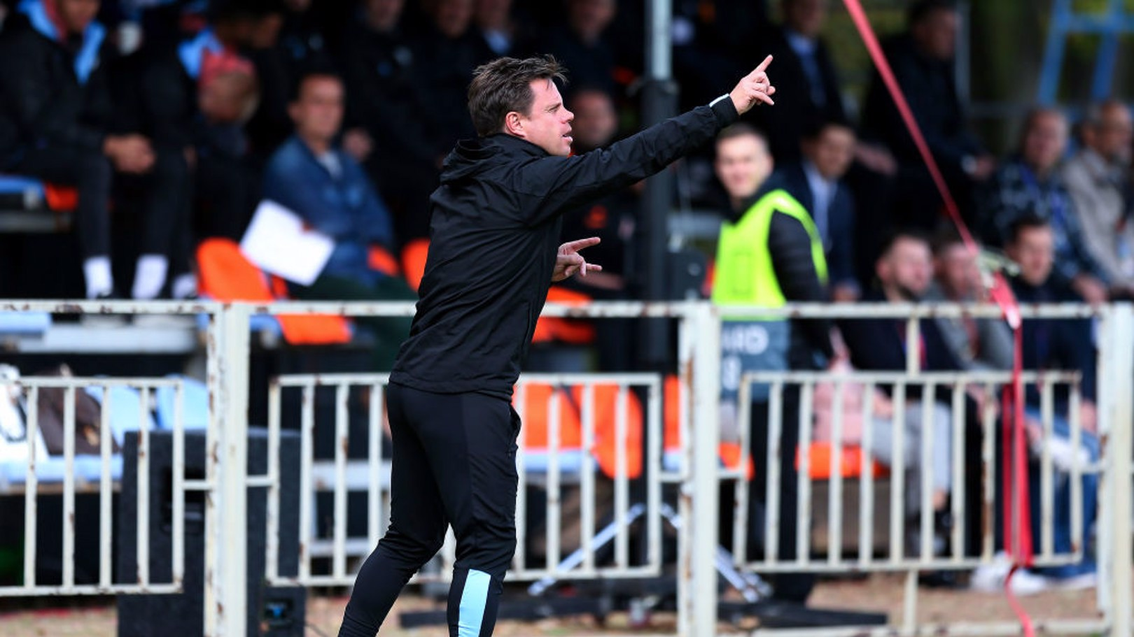 INSTRUCTIONS: Paul Harsley on the sideline against Shakhtar Donetsk.