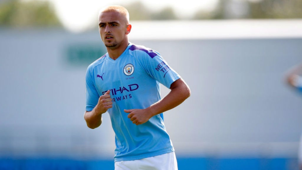 ON THE MARK: Lewis Fiorini was also on target for the City youngsters