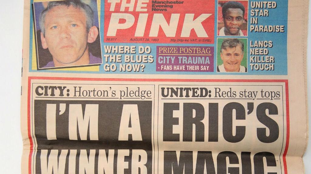 KENANGAN: Koran Football Pink dari tahun 1993
