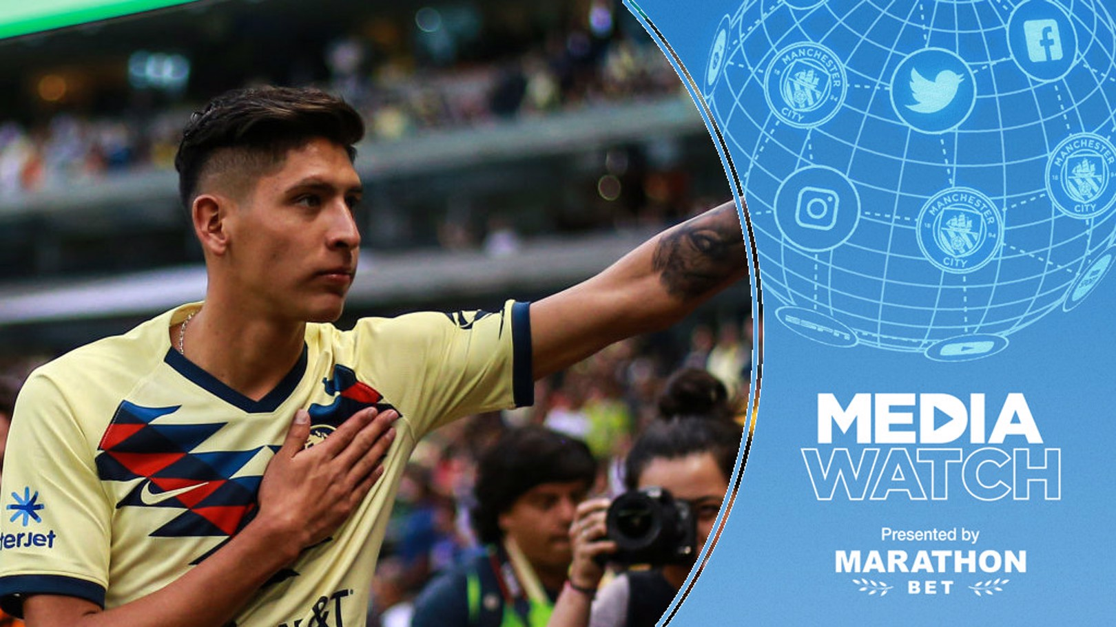 MEDIA WATCH: Edson Alvarez has expressed his admiration for City's attacking style.