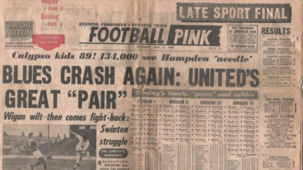 Terbitan Manchester Evening Chronicle Football Pink pasca perang