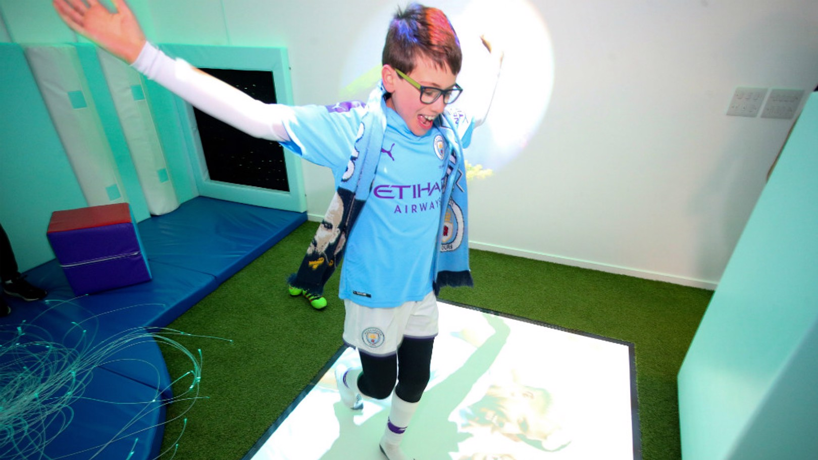 NOW OPEN: The sensory room at the Etihad Stadium.