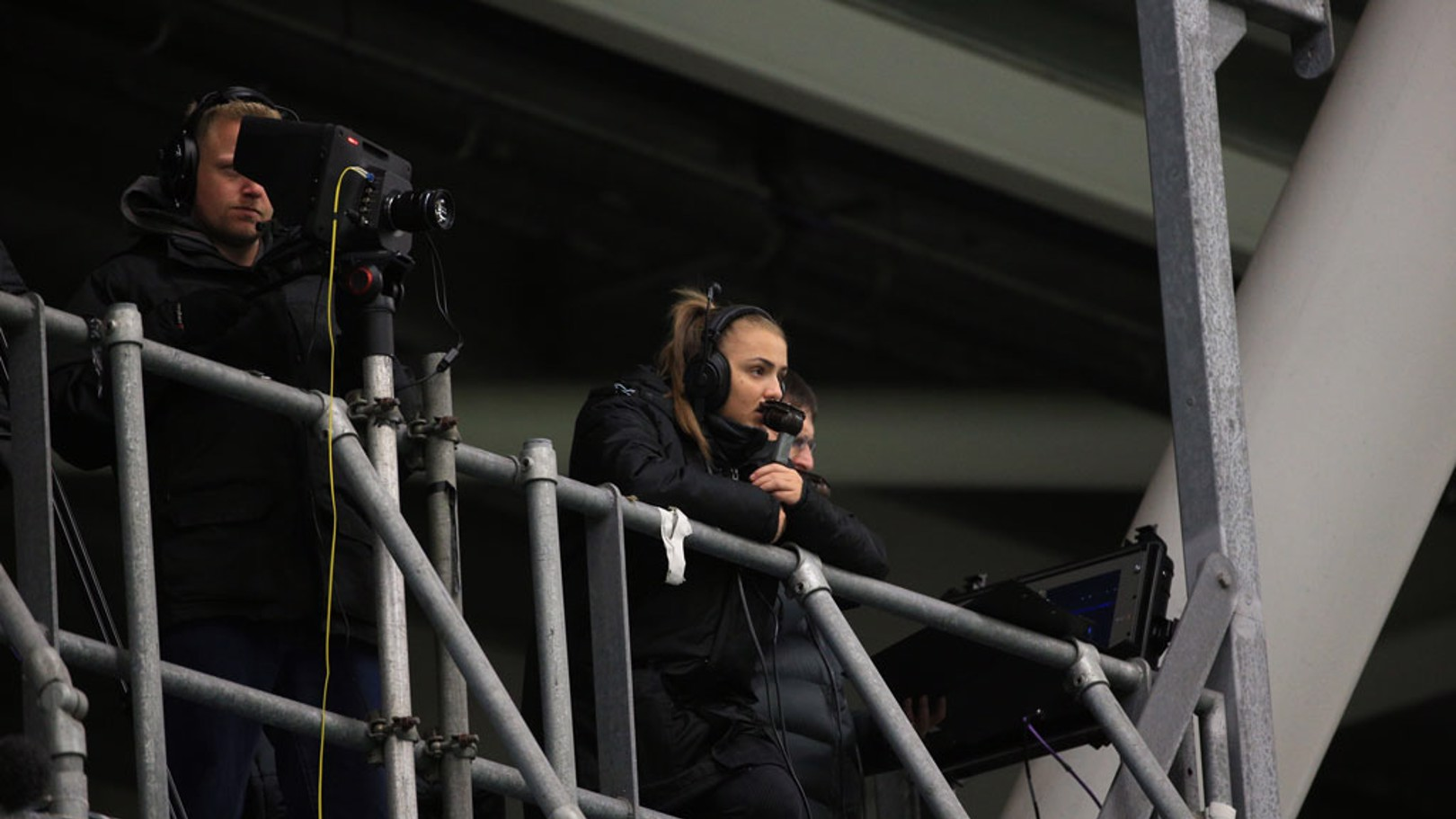 NATURAL: Georgia Stanway was on commentary for City's clash with Atletico Madrid.