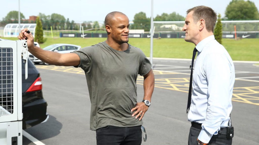 ICONS: Will catches up with former City captain Vincent Kompany