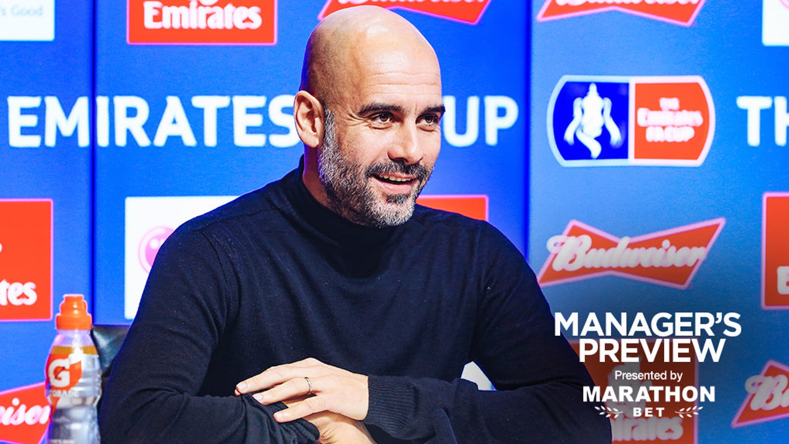 PEP TALK: The boss gives us a fitness update ahead of the FA Cup fourth round