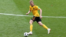 PULLING THE STRINGS: Kevin De Bruyne provided two assists as Belgium beat Scotland.