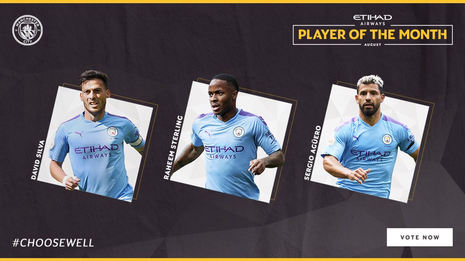 Trio up for August Etihad Player of the Month vote