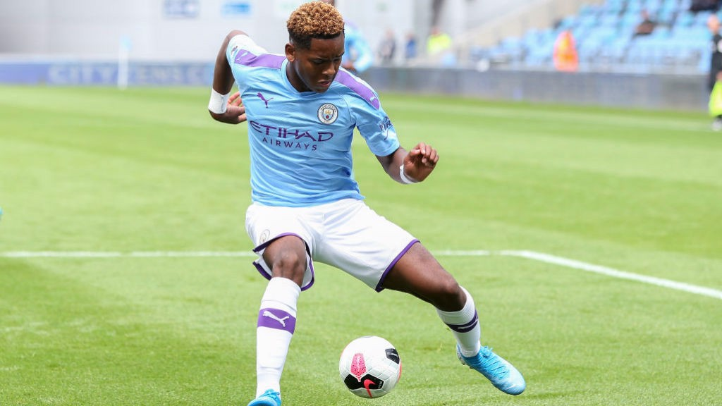 ON TARGET: Jayden Braaf gave City's Under-21s the lead at Rochdale