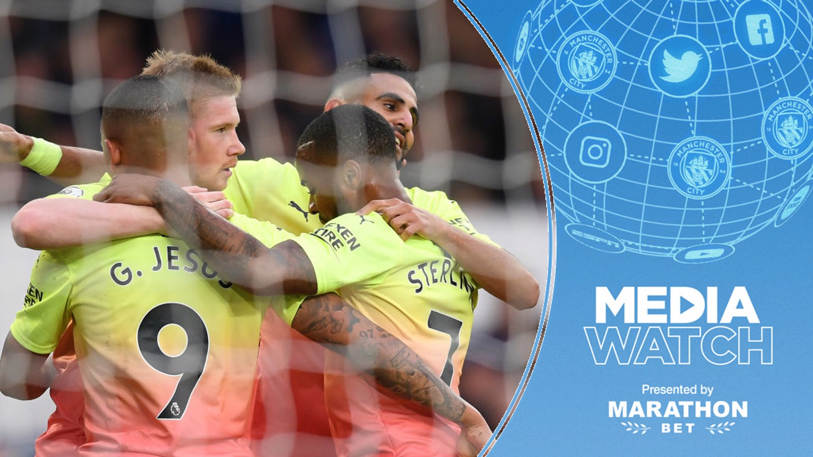MAIN MEN: Riyad Mahrez and Kevin De Bruyne have been praised in the media.