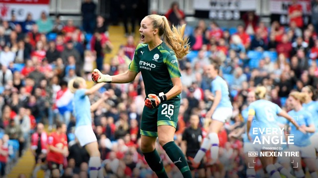 JOB DONE: A passionate celebration from Ellie Roebuck.