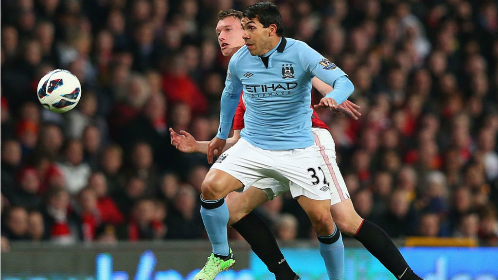 CROSSTOWN TRAFFIC: Carlos Tevez tasted silverware with both United and City