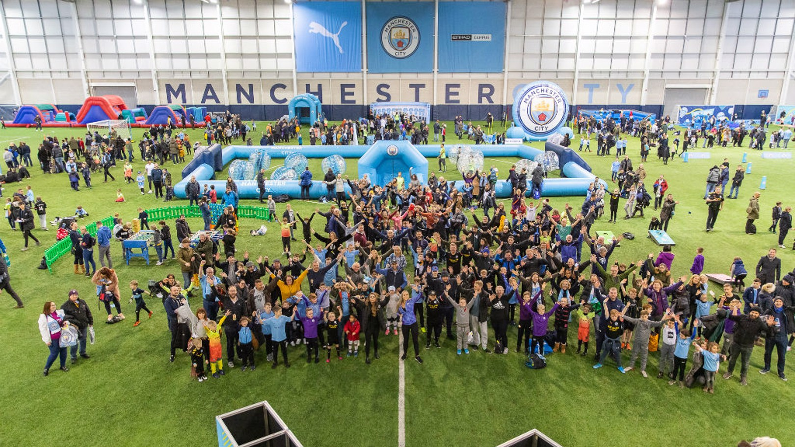 Record turnout for Man City Kids Fanzone!